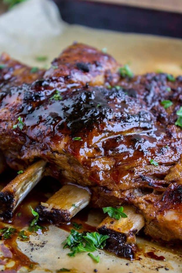 Honey Balsamic Slow Cooker Pork Ribs