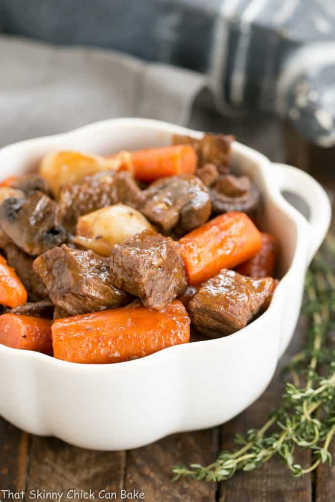 Your kitchen will be filled with an amazing aroma while this Slow Cooker Beef Stew with Mushrooms simmers its way to deliciousness.