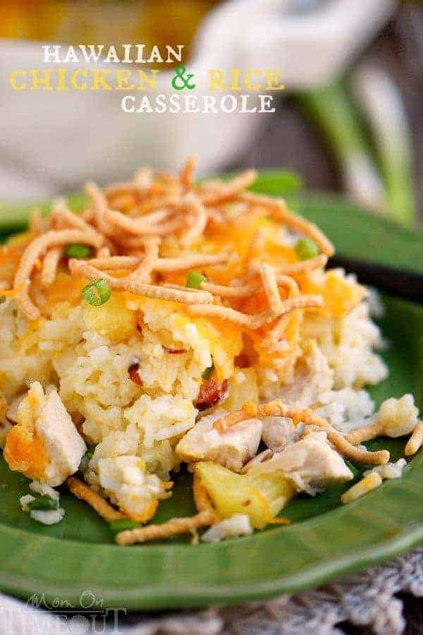 Get ready for a newfavorite –Hawaiian Chicken and Rice Casserole! An easy weeknight dinner that uses ingredients you probably already have in your pantry!