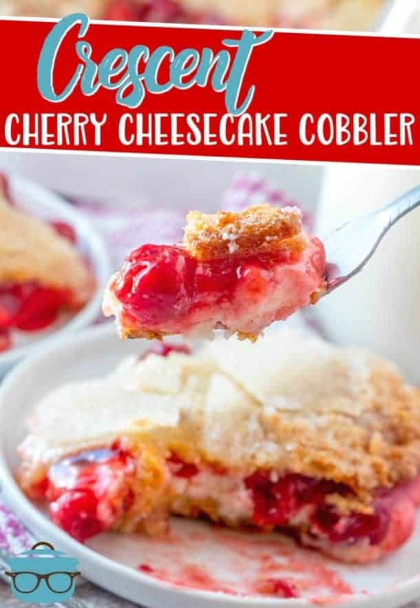 Crescent Cherry Cheesecake Cobbler