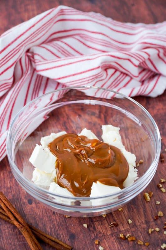 Apple Fries with Caramel Pecan Cream Dip