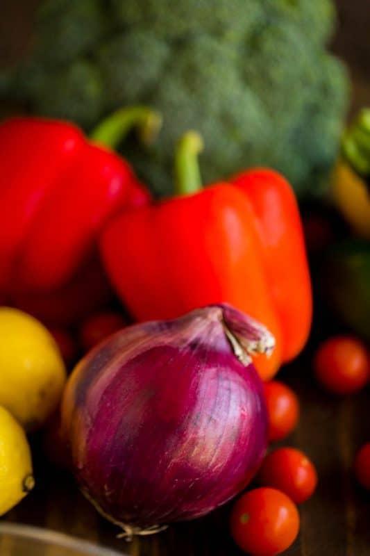 Fresh Vegetables for Pasta Salad