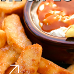 Easy Apple Fries with Caramel Cream Dip