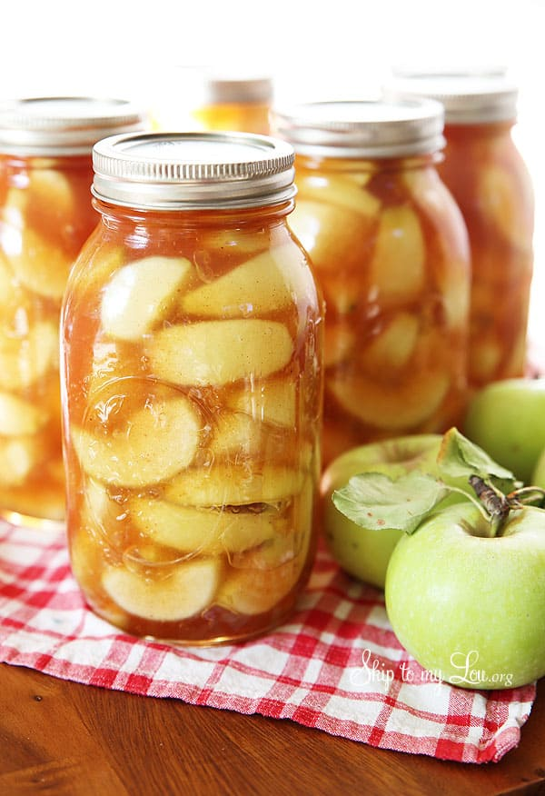 Hausgemachte Apple Pie Füllung