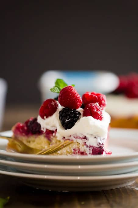 Favorite Family Dessert Berry Upside Down Cake
