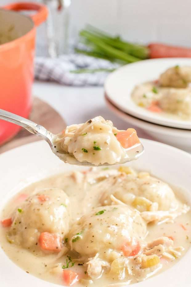 Melt in your mouth Chicken and Dumplings Recipe