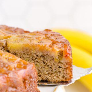Banana Upside Down Cake slice