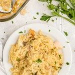 Chicken and Rice Casserole on plate