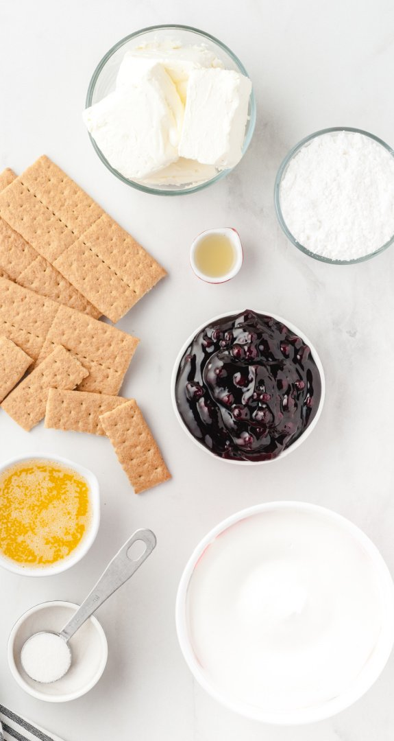 No Bake Blueberry Cheesecake Ingredients