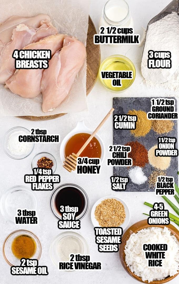 Crispy Honey Chicken Ingredients