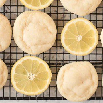 Lemon Sugar Cookies on rack