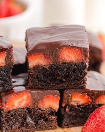 Chocolate Covered Strawberry Brownies