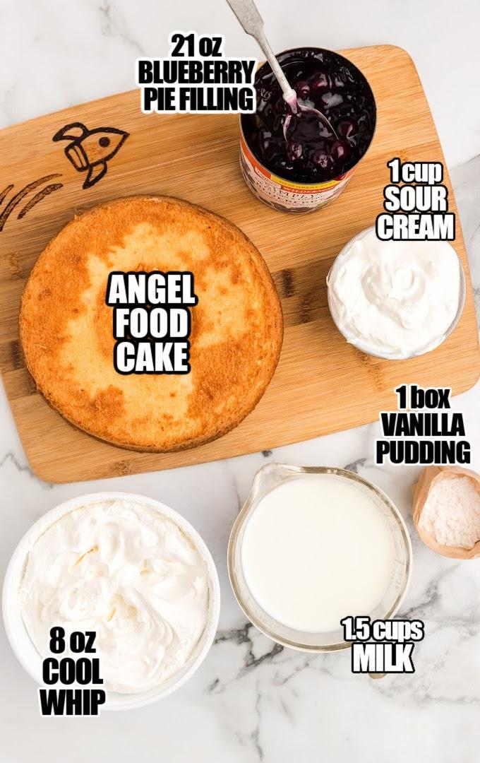 Blueberry Angel Food Cake Ingredients