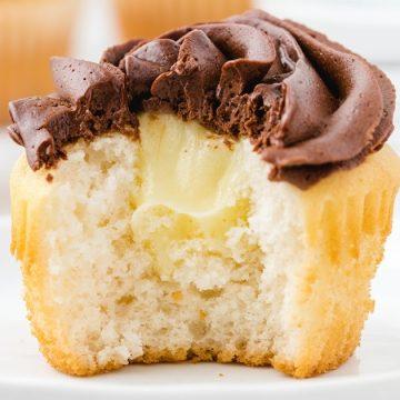 Boston Cream Cupcakes